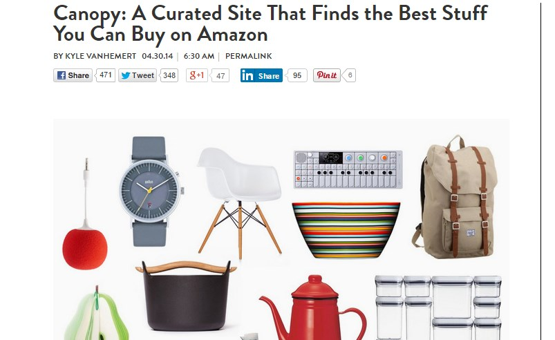 Canopy: A Curated Site That Finds the Best Stuff You Can Buy on Amazon