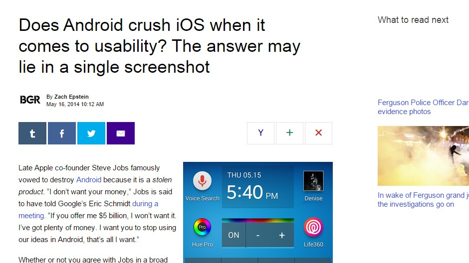 Does Android crush iOS when it comes to usability? The answer may lie in a single screenshot