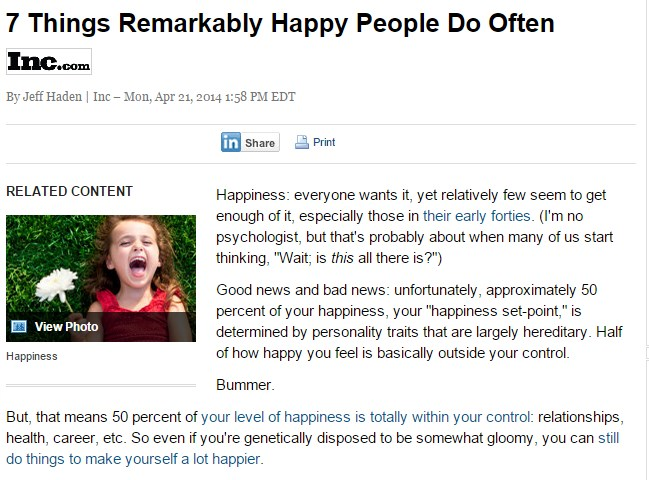 7 Things Remarkably Happy People Do Often