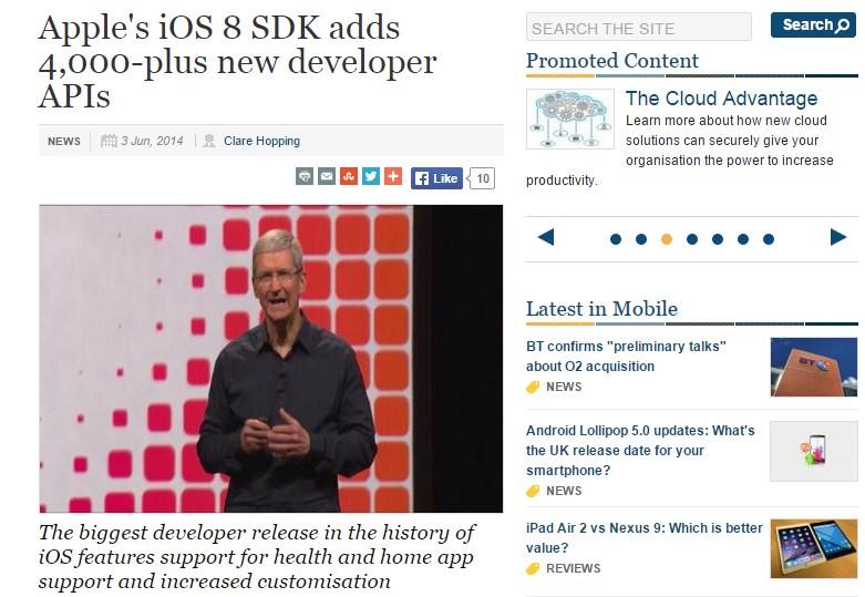 Apple's iOS 8 SDK adds 4,000-plus new developer APIs