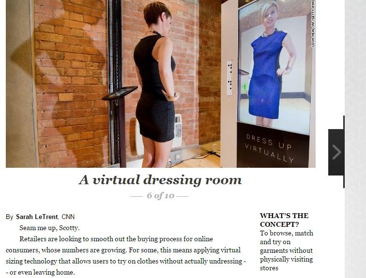 A virtual dressing room