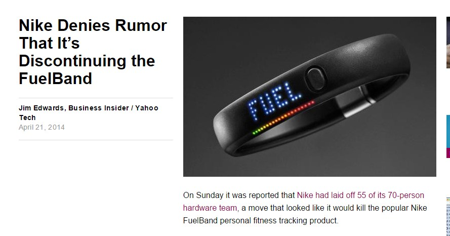 Nike Denies Rumor That It's Discontinuing the FuelBand