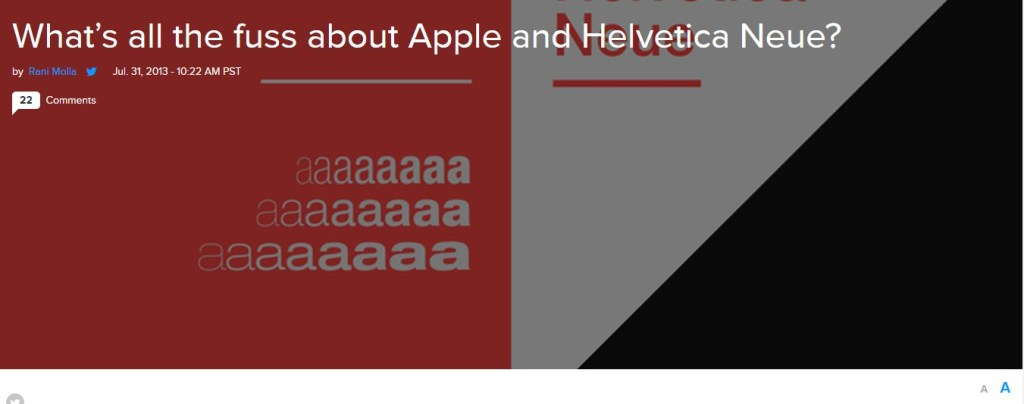 What's all the fuss about Apple and Helvetica Neue?