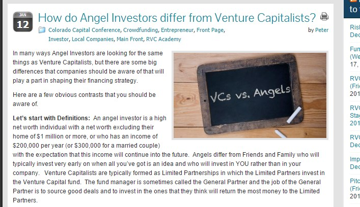 How do Angel Investors differ from Venture Capitalists?