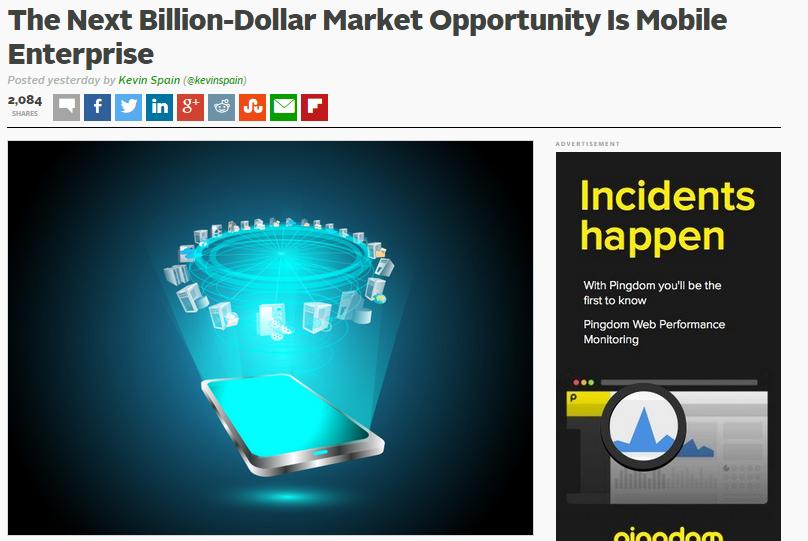 The Next Billion-Dollar Market Opportunity Is Mobile Enterprise