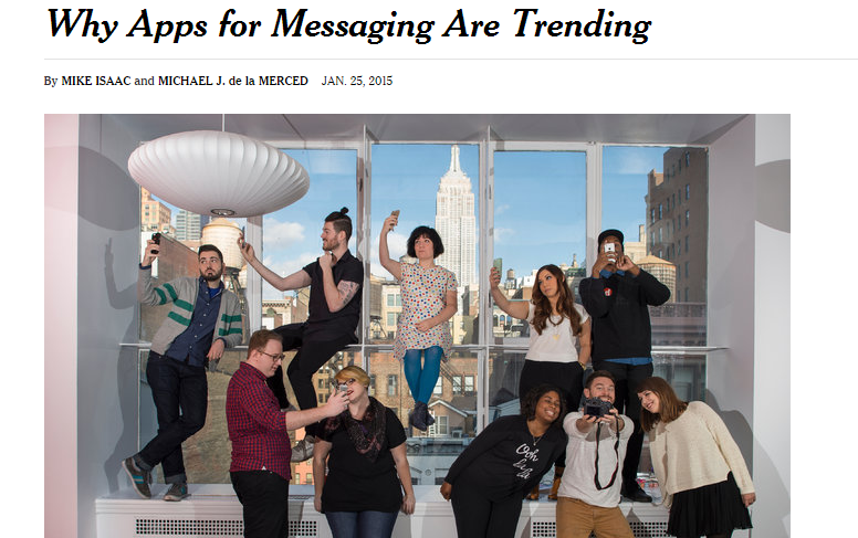 messaging apps are trending