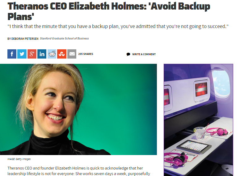 elizabeth holmes back up plans
