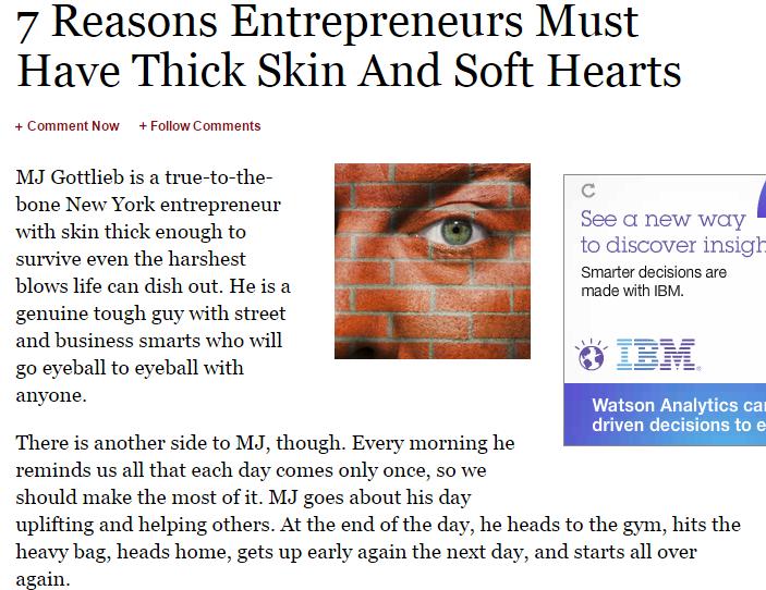 entrepreneurs thick skin
