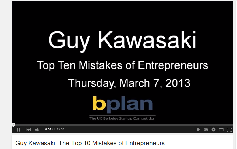 guy kawasaki top 10 mistakes
