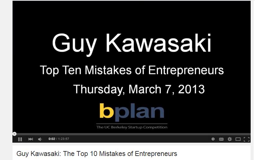 guy kawasaki top 10 mistakes
