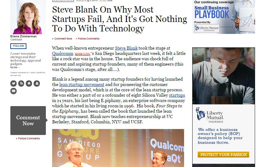 steve blank - startups