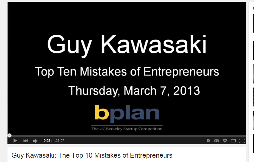 top 10 mistakes entreprenuers