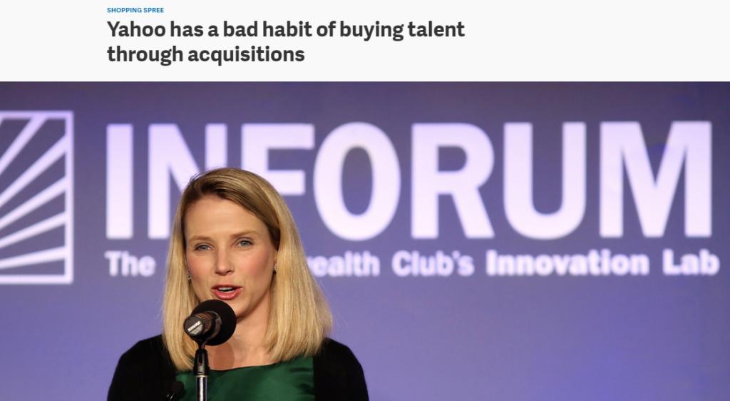 yahoo talent acquisition