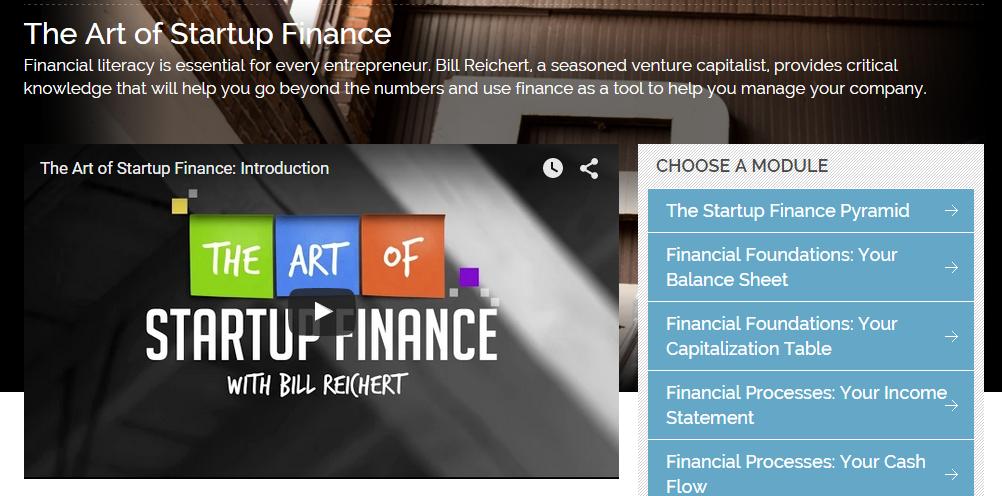 Art of Startup Finance