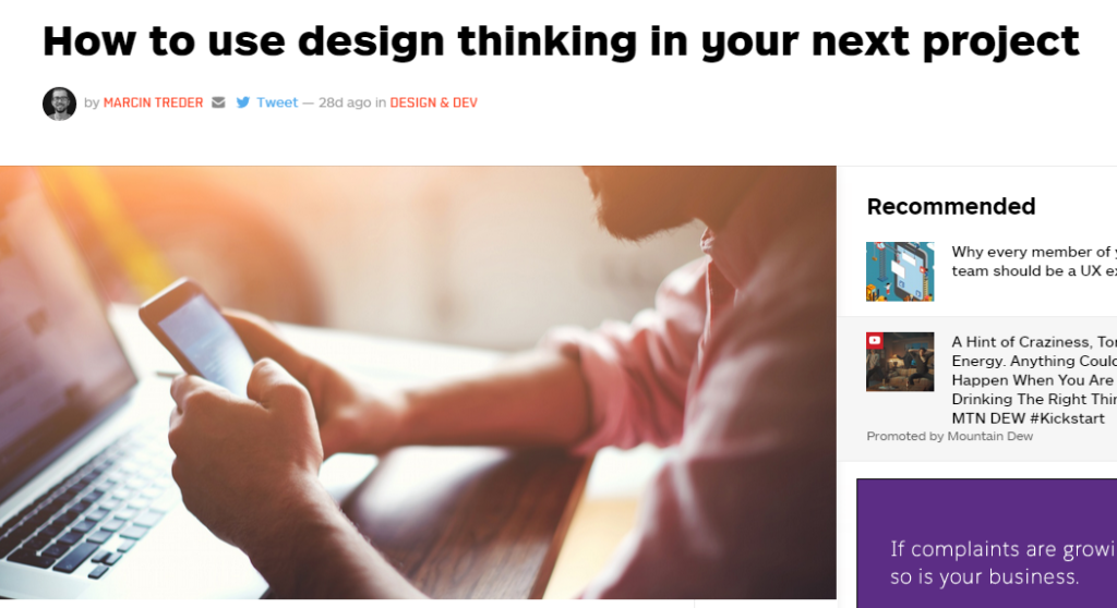 Design Thinking in next project