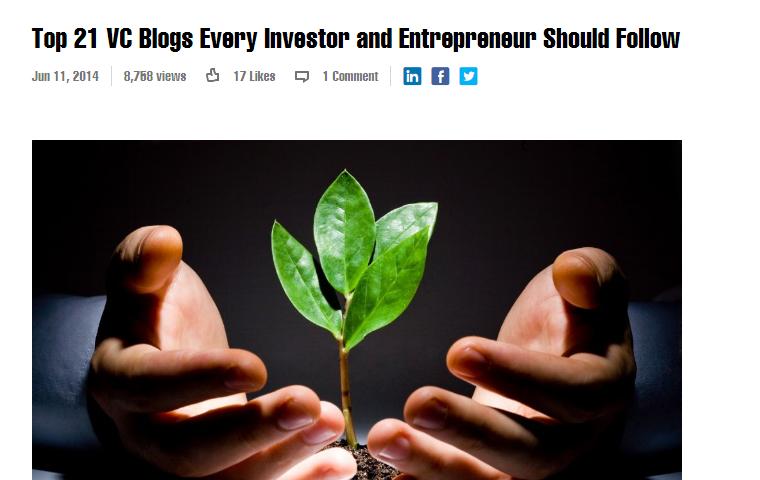 21 VC blogs