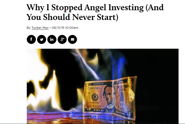 NO ANGEL INVESTING