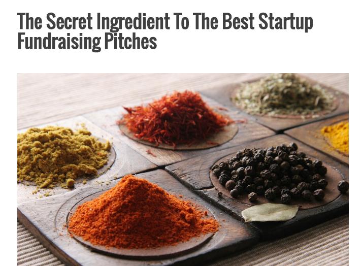 Secret Ingredient Best startup pitches