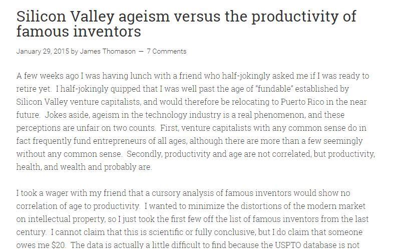 Silicon valley Ageism