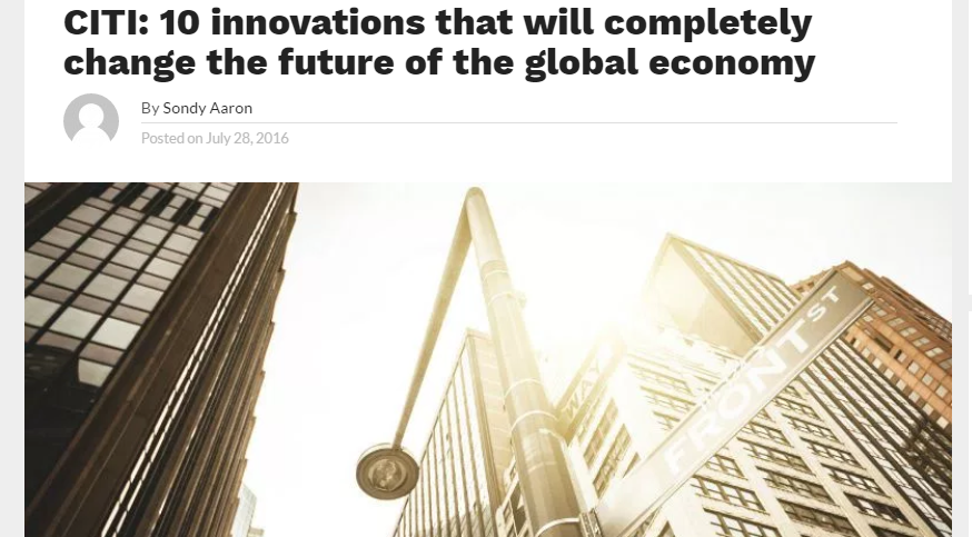 10 innovtions that will change global economy