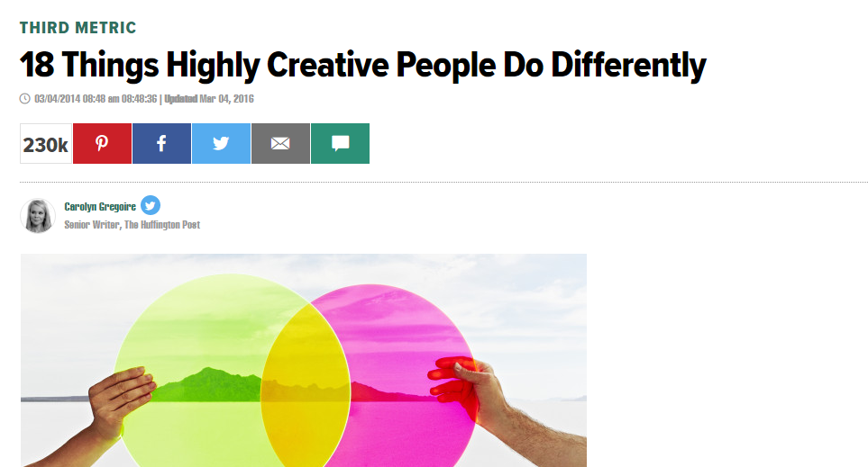 18 things creative people