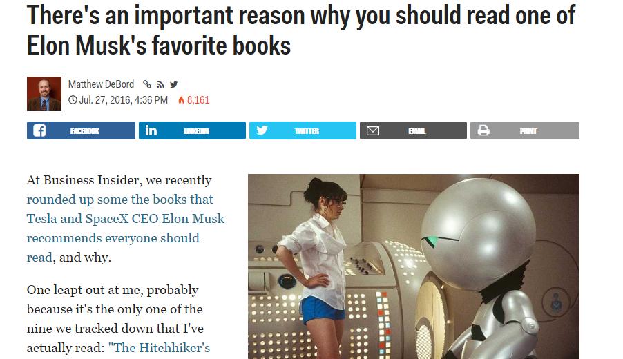 Elon Musk Favorite Book