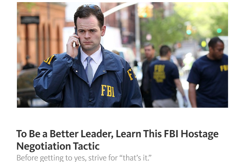 FBI negotiation tactic