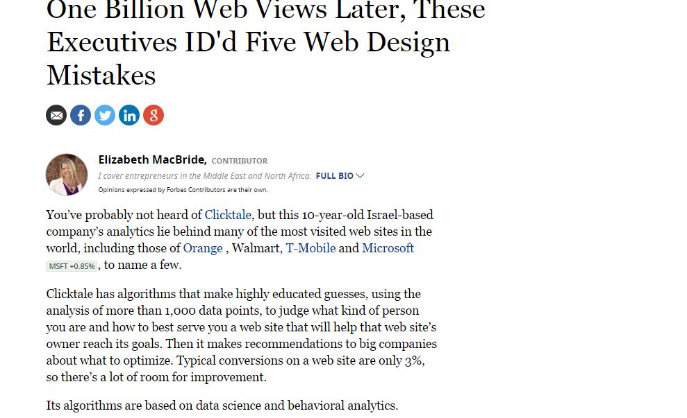 Five web design mistakes