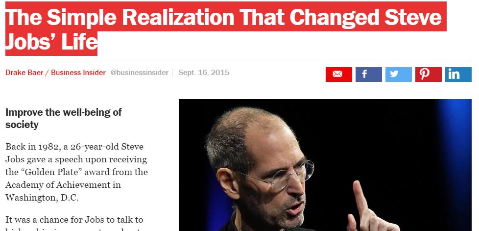 Realization Steve Jobs