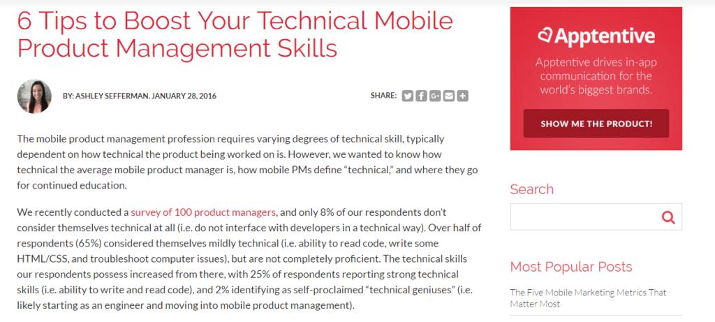 TechnicalMobileProductManagementSkills