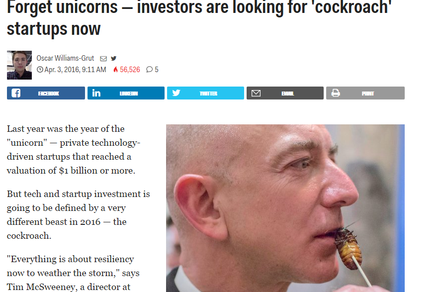 cockroach startups