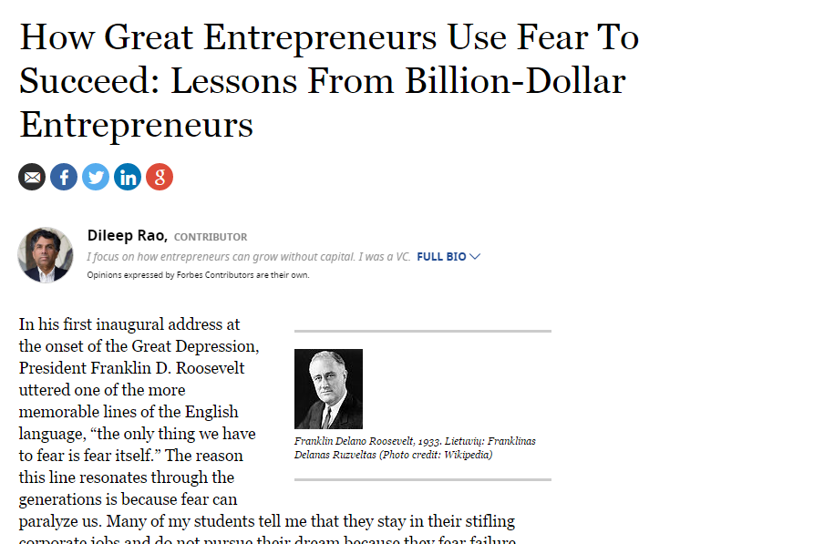great entrepreneurs fear