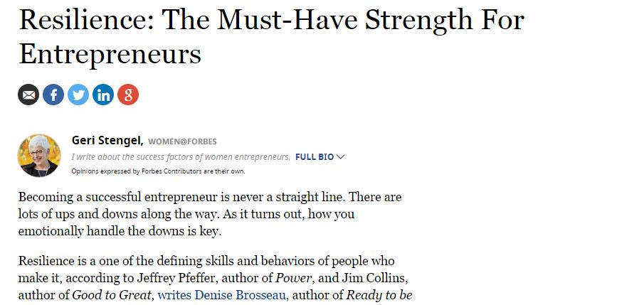 resilence entrepreneurs