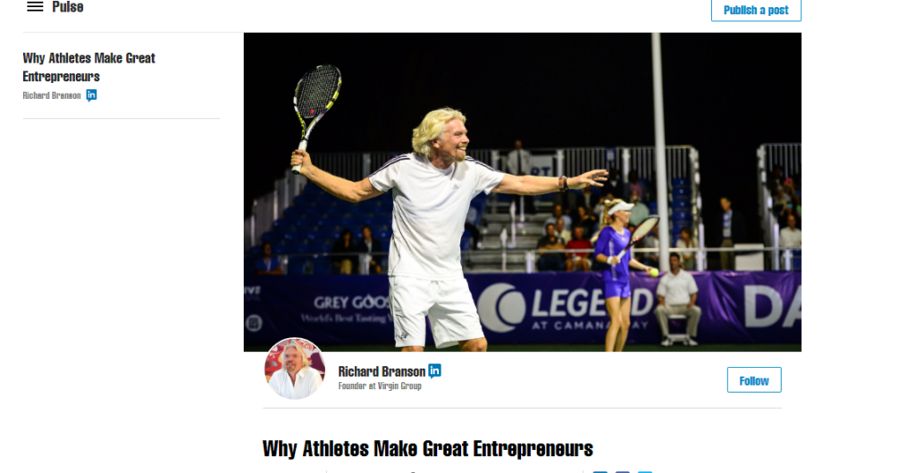 Atheletes Great Entrepreneurs