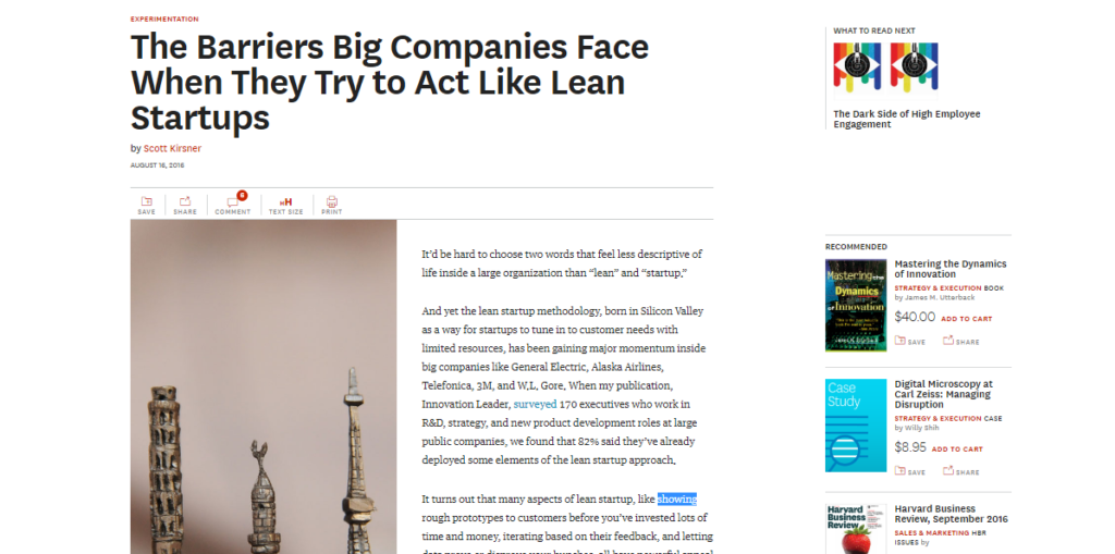 Barriers Big Companies Face When they try to act like lean startups