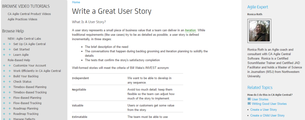 Write a Great User Story