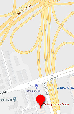 browns line etobicoke acupuncture map