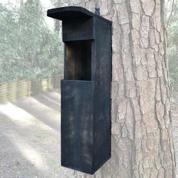 Owl Shack Mounted on a tree. Product Photos