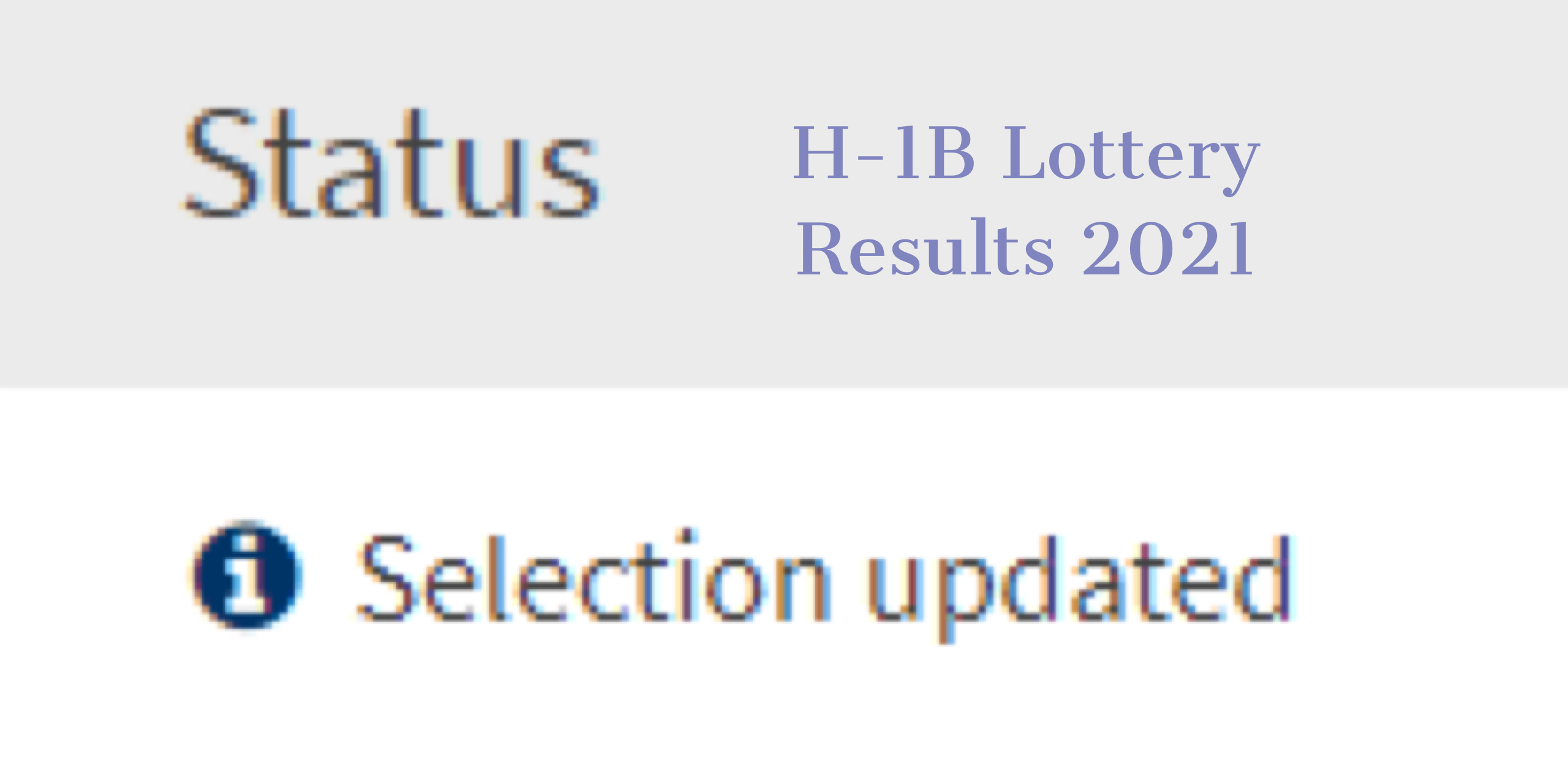 H-1B Lottery Results 2021