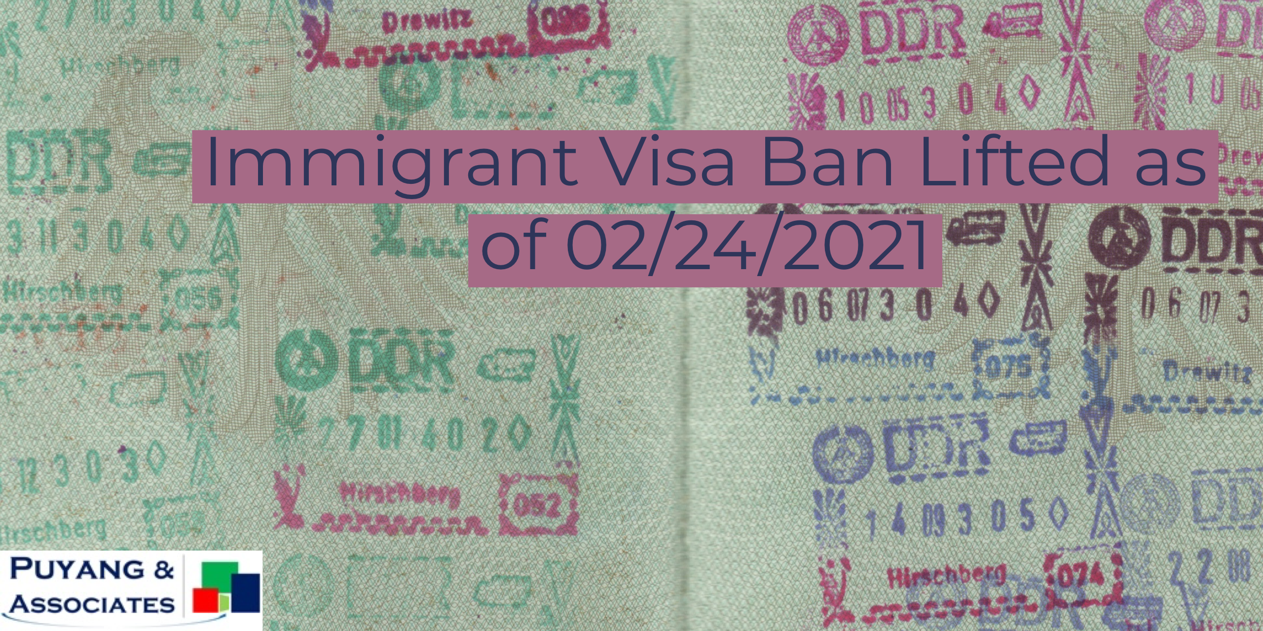 Immigrant Visa Ban Lifted