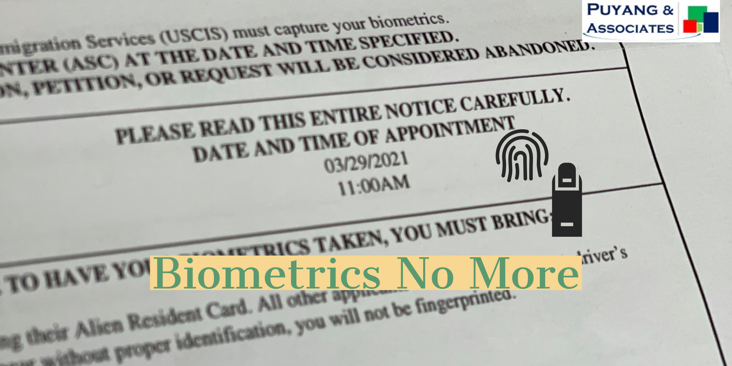 Breaking: USCIS to Eliminate Biometrics Requirement for I-539 filers starting May 17, 2021