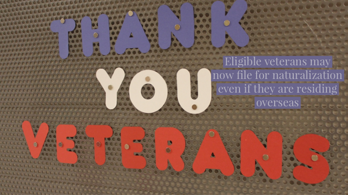 Qualified Veterans Living Overseas May File for Naturalization