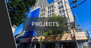 SFU Scaffolding Sidewalk Project