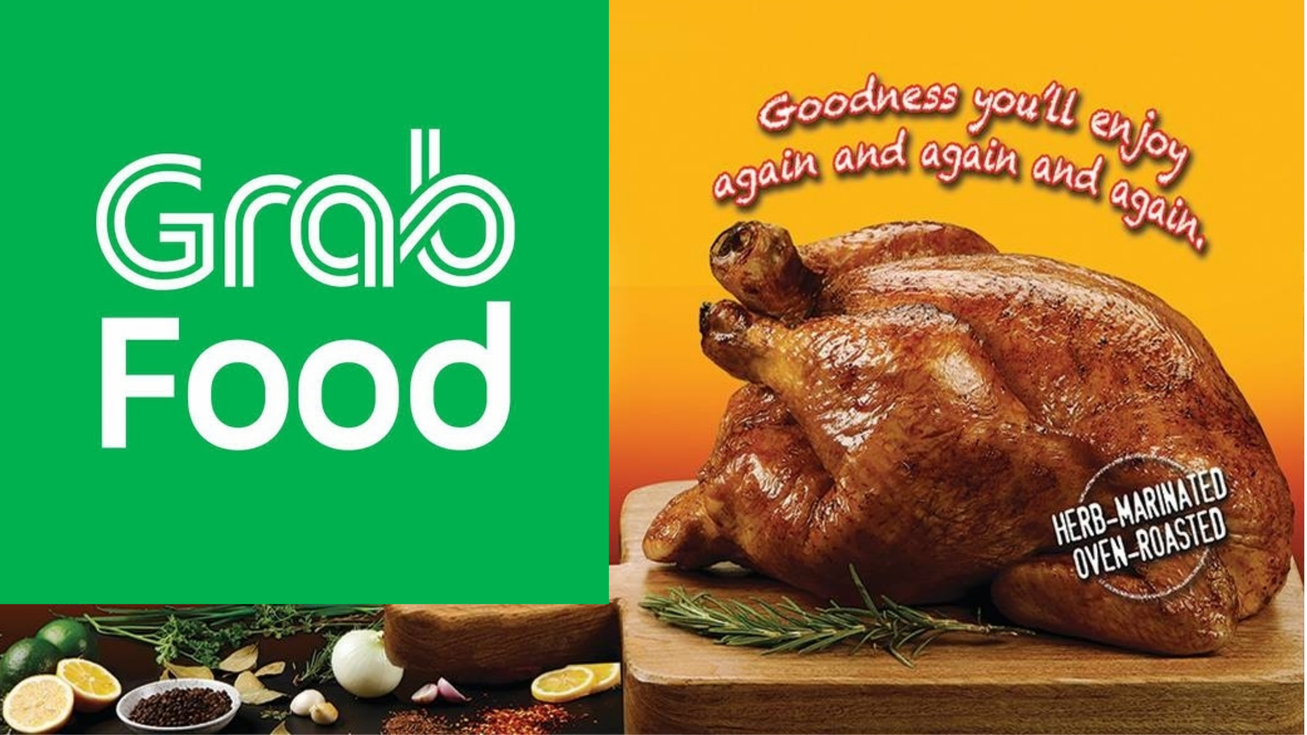 Photo of rockos chicken with grab food logo