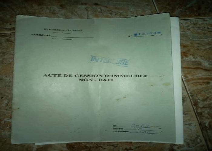 Lotissement Zak îlot 9063 vers chez Ministre Albade Abouba