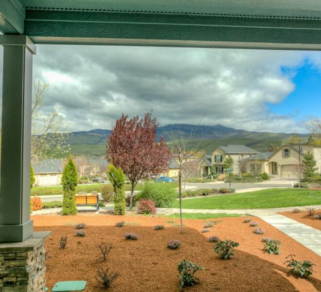 View from a home in the Billings Ranch community of Ashland, Oregon