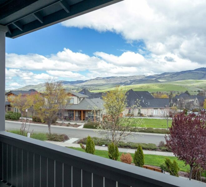 View from the patio of a home in the Billings Ranch community of Ashland, Oregon