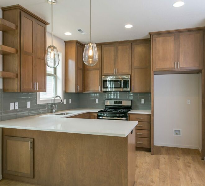 Kitchen of a home in the Billings Ranch community of Ashland, Oregon