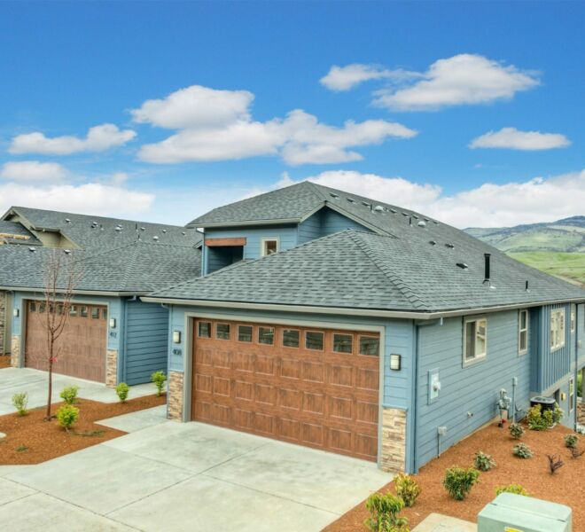 Roof of a home in the Billings Ranch community of Ashland, Oregon