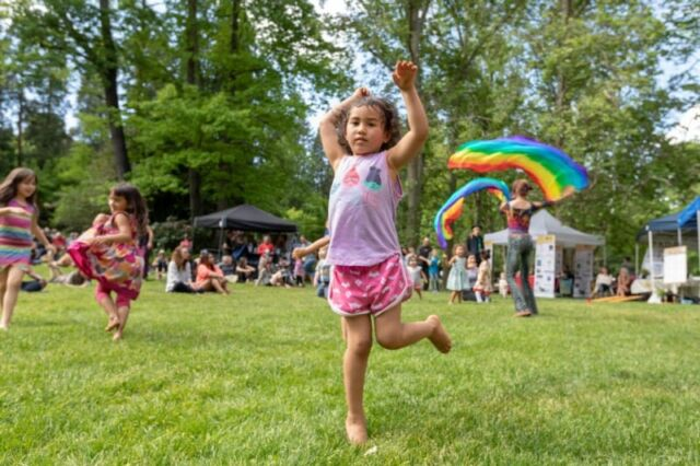 Child dancing at the Ashland World Music Festival